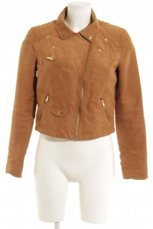 H&M Divided Kunstlederjacke cognac Casual-Look