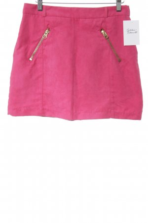 H&M Divided Rok van imitatieleder magenta straat-mode uitstraling