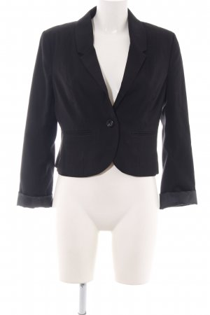 H&M Divided Kurz-Blazer schwarz Business-Look