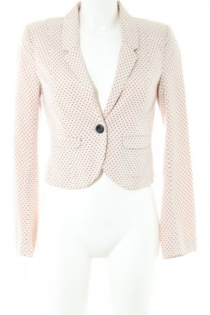 H&M Divided Kurz-Blazer creme-schwarz Punktemuster Business-Look