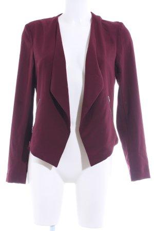 H&M Divided Kurz-Blazer bordeauxrot schlichter Stil