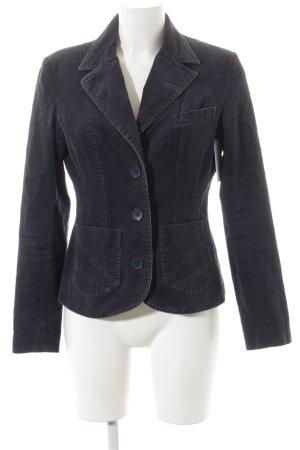 H&M Divided Kurz-Blazer dunkelblau Boyfriend-Look