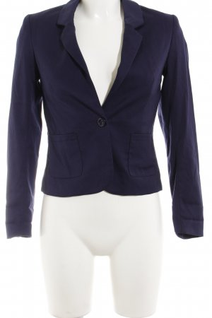 H&M Divided Kurz-Blazer dunkelblau Business-Look