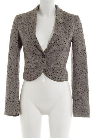 H&M Divided Kurz-Blazer silberfarben-hellgrau meliert Business-Look