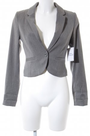 H&M Divided Kurz-Blazer grau Business-Look