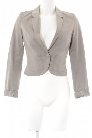 H&M Divided Kurz-Blazer hellgrau Casual-Look