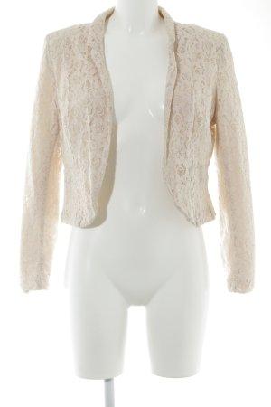 H&M Divided Kurz-Blazer rosé Blumenmuster Romantik-Look