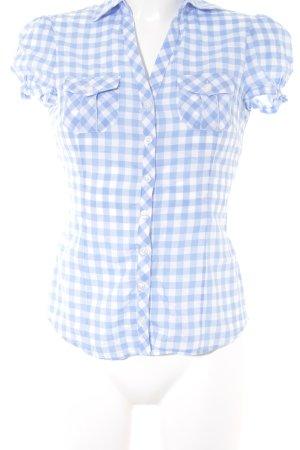 H&M Divided Camisa de manga corta azul celeste-blanco look casual