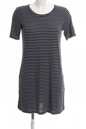 H&M Divided Kurzarmkleid schwarz-weiß Allover-Druck Casual-Look