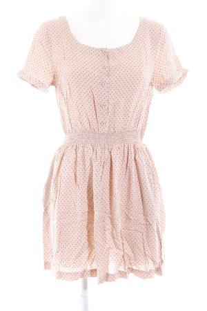 H&M Divided Kurzarmkleid nude-neonrot Punktemuster 60ies-Stil