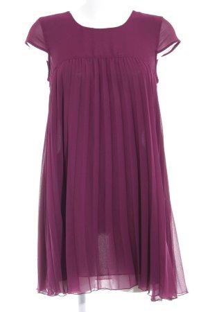 H&M Divided Kurzarmkleid purpur schlichter Stil