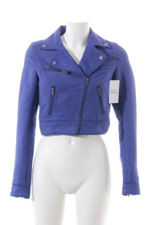 H&M Divided Kurzjacke blau Biker-Look