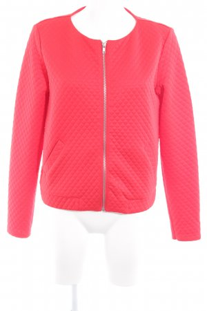 H&M Divided Kurzjacke rot Kuschel-Optik