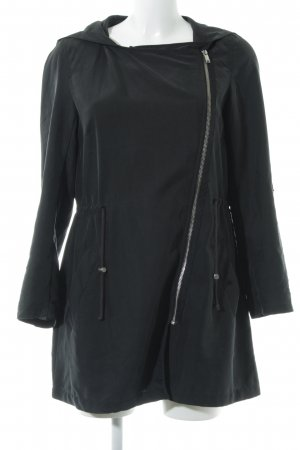 H&M Divided Kurzmantel schwarz Casual-Look