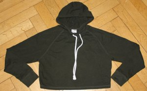 H&M Divided LA-Hoodie kurz dunkelgrün Gr. S 36 Sweatshirt TOP