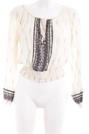 H&M Divided Langarm-Bluse Aztekenmuster Gypsy-Look