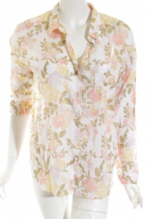 H&M Divided Langarm-Bluse florales Muster Romantik-Look