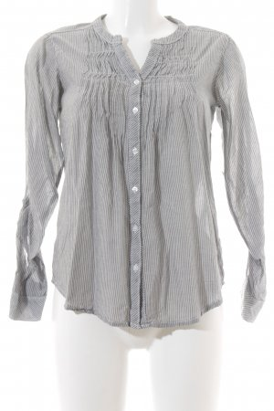 H&M Divided Langarmhemd grau-wollweiß Streifenmuster Casual-Look