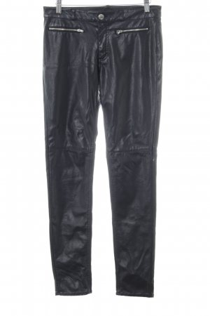 H&M Divided Leather Trousers black casual look