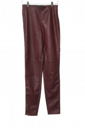 H&M Divided Leather Trousers bordeaux casual look
