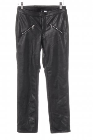 H&M Divided Leather Trousers black biker look