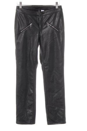 H&M Divided Lederhose schwarz Biker-Look
