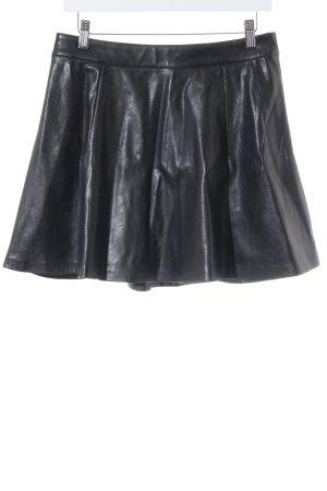 H&M Divided Lederrock schwarz Street-Fashion-Look