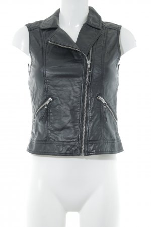 H&M Divided Leather Vest black casual look