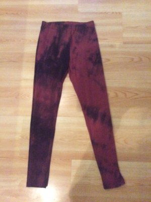H&M Divided Leggings Gr XS Bordeaux
