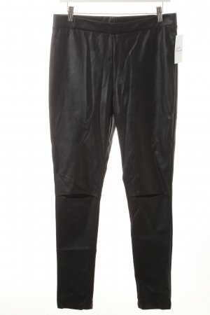H&M Divided Leggings schwarz Biker-Look