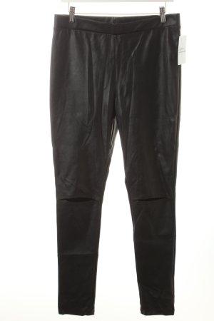 H&M Divided Leggings schwarz Biker-Look