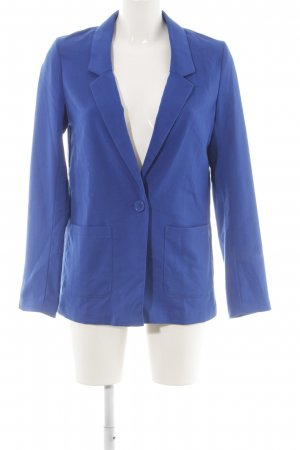 H&M Divided Long-Blazer blau Business-Look