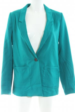 H&M Divided Long-Blazer türkis Business-Look