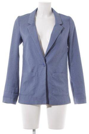 H&M Divided Long-Blazer kornblumenblau Jeans-Optik