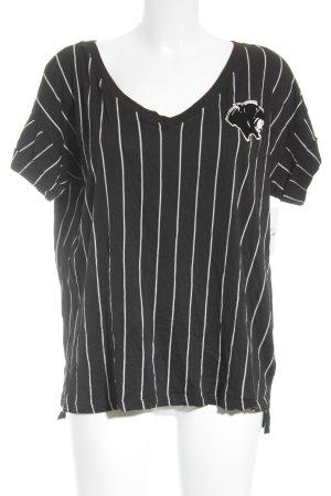 H&M Divided Longshirt schwarz-weiß Motivdruck sportlicher Stil