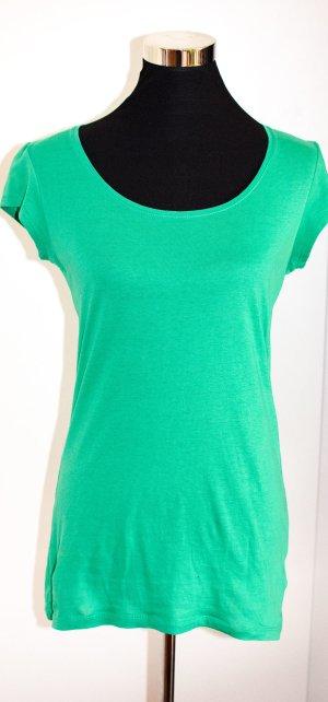 H&M DIVIDED Longshirt, T-Shirt Grün, Baumwolle, S (36/38)