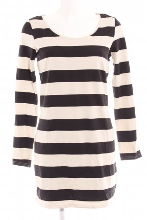 H&M Divided Longsleeve creme-schwarz Ringelmuster Casual-Look