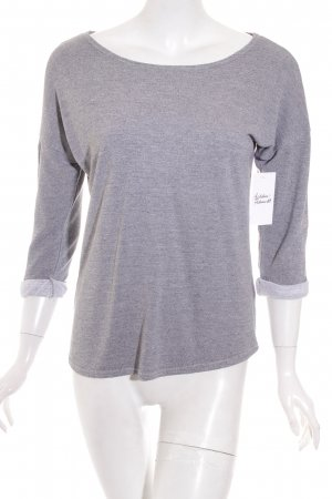 H&M Divided Longsleeve grau meliert Casual-Look
