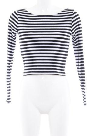 H&M Divided Longsleeve schwarz-weiß Streifenmuster klassischer Stil