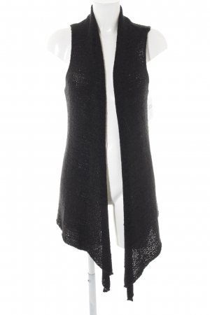 H&M Divided Longstrickweste schwarz Casual-Look