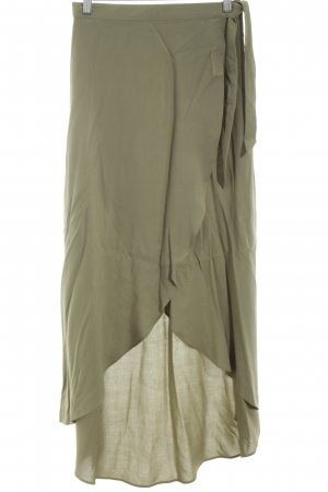 H&M Divided Falda larga caqui look casual