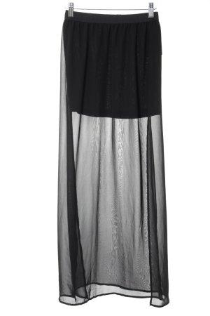 H&M Divided Maxi Skirt black beach look