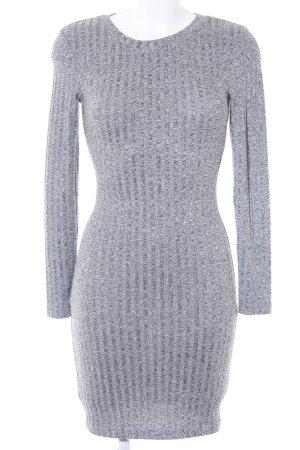 H&M Divided Minikleid grau Streifenmuster Casual-Look