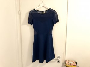 H&M Divided Minikleid S / 36 blau sexy Netz neu top Kurzarm A-Linie