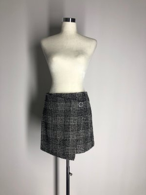 H&M Divided Miniskirt black-white polyester