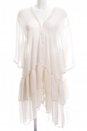 H&M Divided Dressing Gown white transparent look