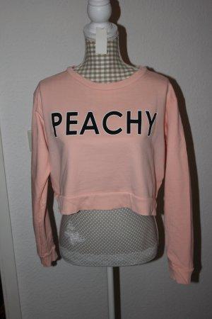 "H&M Divided **NEU** Kurzes Sweatshirt Gr. M ""Peachy"""