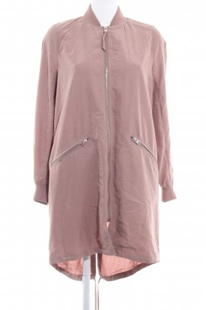 H&M Divided Oversized jack stoffig roze casual uitstraling