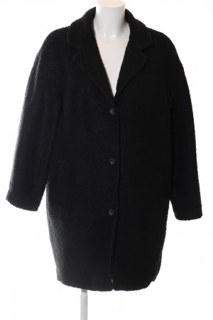 H&M Divided Oversized Mantel schwarz Casual-Look