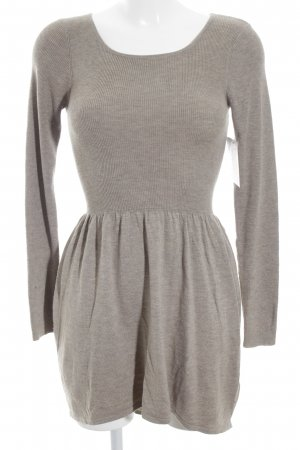 H&M Divided Robe pull gris brun style décontracté